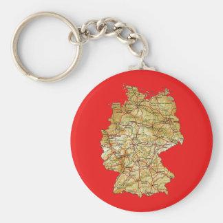 ドイツ地図Keychain キーホルダー
