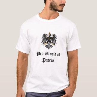 """ドイツ帝国""""プログロリアとPatria """" Tシャツ"""