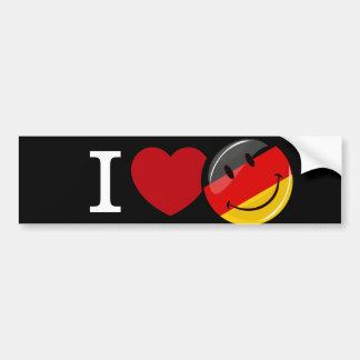 ドイツ微笑の旗からの愛 バンパーステッカー