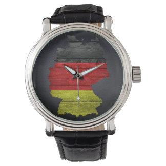 ドイツ旗および地図 腕時計