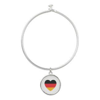 ドイツ旗のハートの腕輪のチャームブレスレット バングルブレスレット