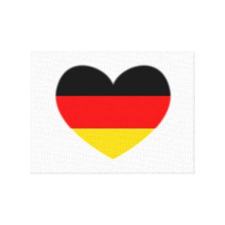 ドイツ旗のハート キャンバスプリント