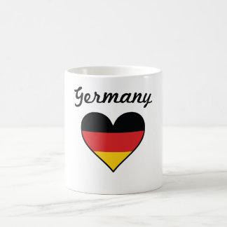 ドイツ旗のハート コーヒーマグカップ