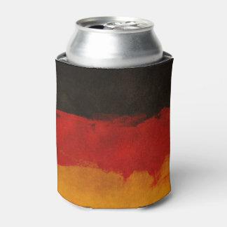 ドイツ旗のペンキのグランジなデザイン 缶クーラー