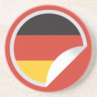 ドイツ旗の剥せるステッカー コースター
