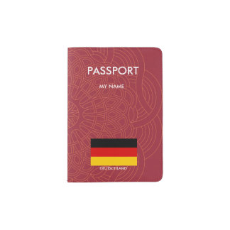 ドイツ旗の質 パスポートカバー