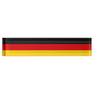 ドイツ旗 デスクネームプレート