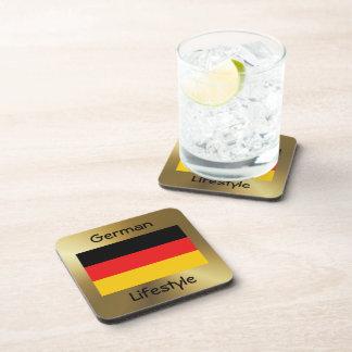 ドイツ旗+文字のコースター コースター