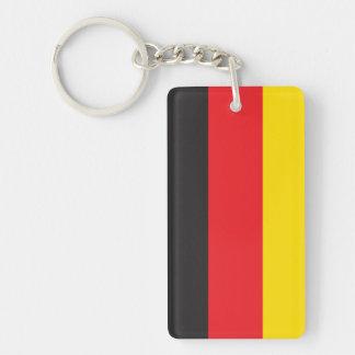 ドイツ旗 長方形(両面)アクリル製キーホルダー