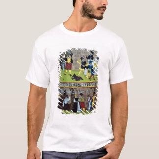 ドイツ語によってエナメルを塗られるHumpen Tシャツ