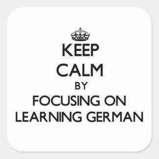 ドイツ語を学ぶことに焦点を合わせることによって平静を保って下さい スクエアシール