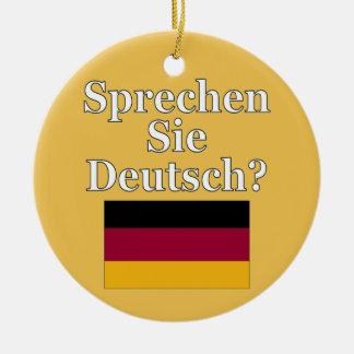 ドイツ語を話しますか。 ドイツ語。 旗 セラミックオーナメント