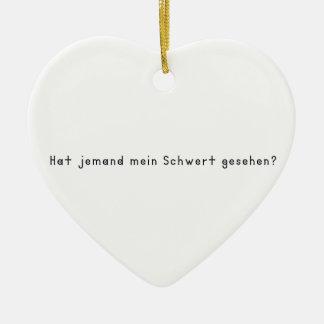 ドイツ語-剣 セラミックオーナメント