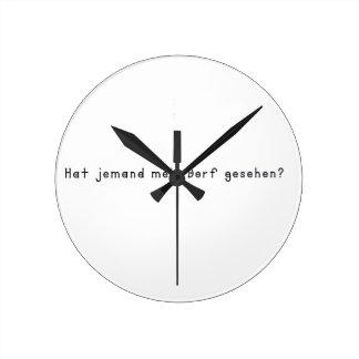 ドイツ語-村 ラウンド壁時計