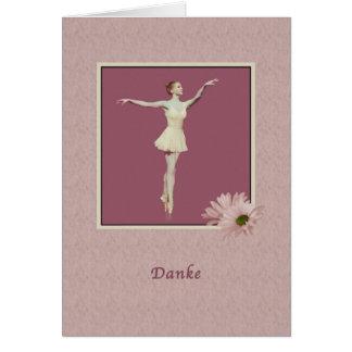 、ドイツ語、Danke、バレリーナありがとう カード
