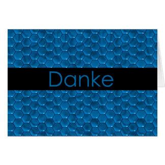 ドイツ語Dankeのありがとう ノートカード