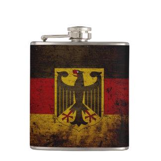 ドイツ黒くグランジな旗 フラスク
