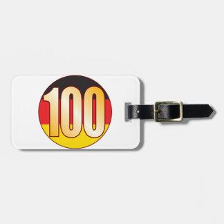 ドイツ100金ゴールド ラゲッジタグ
