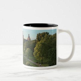 ドイツ、アシャッフェンブルク、Schloss (城) ツートーンマグカップ
