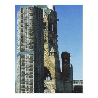 ドイツ、ベルリン、Kurustendamm、ウィルヘルムKirche ポストカード
