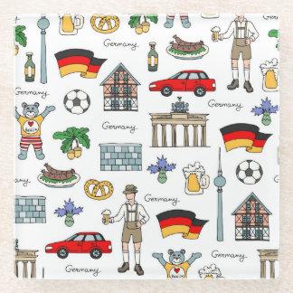 ドイツ|記号パターン ガラスコースター