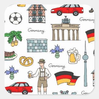 ドイツ|記号パターン スクエアシール