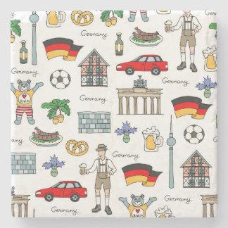 ドイツ|記号パターン ストーンコースター