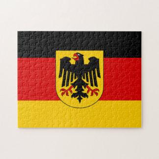 ドイツ- Bundesdienstflaggeの旗 ジグソーパズル