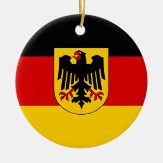 ドイツ- Bundesdienstflaggeの旗 セラミックオーナメント