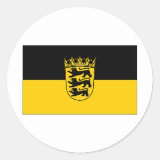 ドイツBaden Wurttemberg旗 ラウンドシール