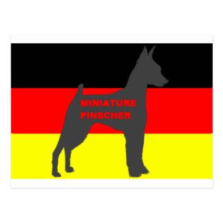 ドイツflag.pngのミニチュア・ピンシャーの名前のサイロ ポストカード
