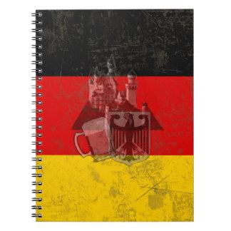 ドイツID152の旗そして記号 ノートブック