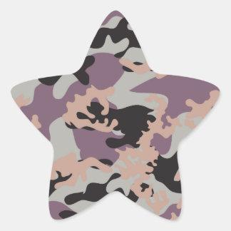 ドイツNATOの迷彩柄のステッカー 星シール