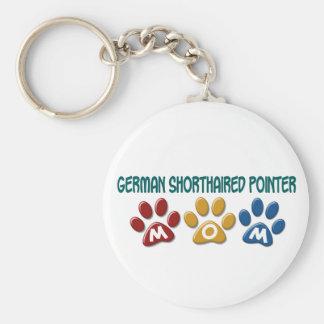 ドイツSHORTHAIREDポインターのお母さんの足のプリント1 キーホルダー