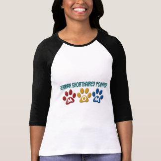 ドイツSHORTHAIREDポインターのお母さんの足のプリント1 Tシャツ