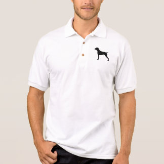 ドイツShorthairedポインターのシルエット ポロシャツ