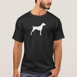 ドイツShorthairedポインターのシルエット Tシャツ
