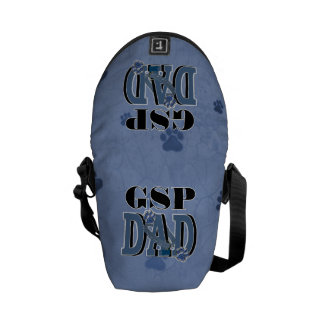 ドイツShorthairedポインターのパパ メッセンジャーバッグ