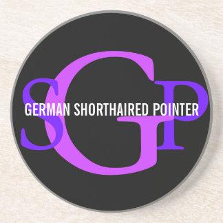 ドイツShorthairedポインターのモノグラムのデザイン コースター
