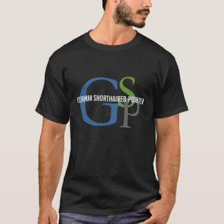 ドイツShorthairedポインターのモノグラムのデザイン Tシャツ