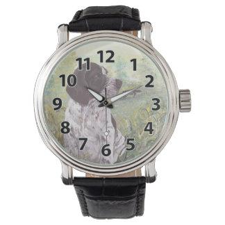 ドイツShorthairedポインターの子犬の夢みる人の腕時計 腕時計