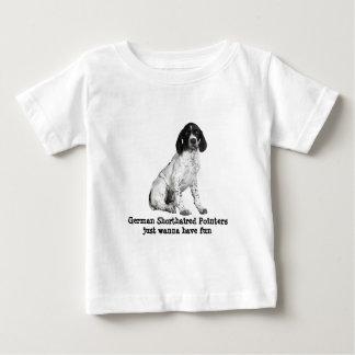 ドイツShorthairedポインターの子犬の幼児のワイシャツ ベビーTシャツ