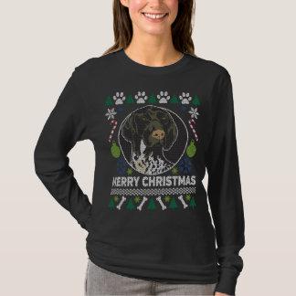 ドイツShorthairedポインターの醜いクリスマスのセーター Tシャツ