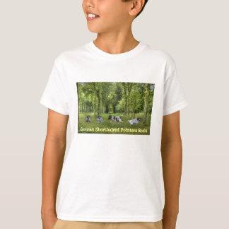 ドイツShorthairedポインターはユニセックスなTシャツをからかいます Tシャツ