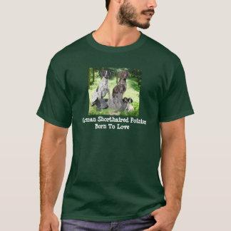 ドイツShorthairedポインター家族のユニセックスなワイシャツ Tシャツ