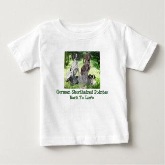 ドイツShorthairedポインター家族の幼児のワイシャツ ベビーTシャツ