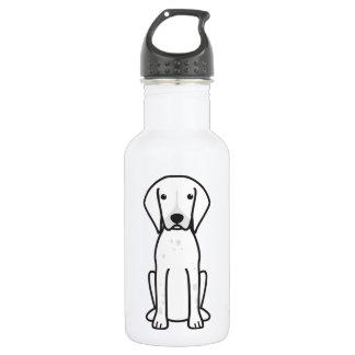 ドイツShorthairedポインター犬の漫画 ウォーターボトル