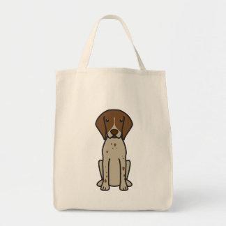 ドイツShorthairedポインター犬の漫画 トートバッグ