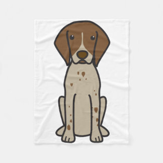 ドイツShorthairedポインター犬の漫画 フリースブランケット