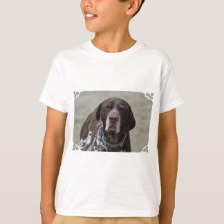 ドイツShorthairedポインター犬 Tシャツ